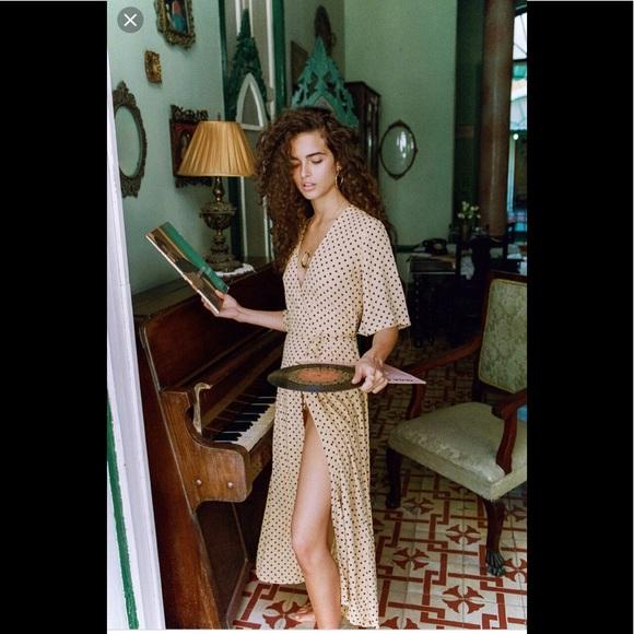 Anthropologie Dresses & Skirts - ‼️NWT Anthropologie Lula Dot Midi Dress XS‼️